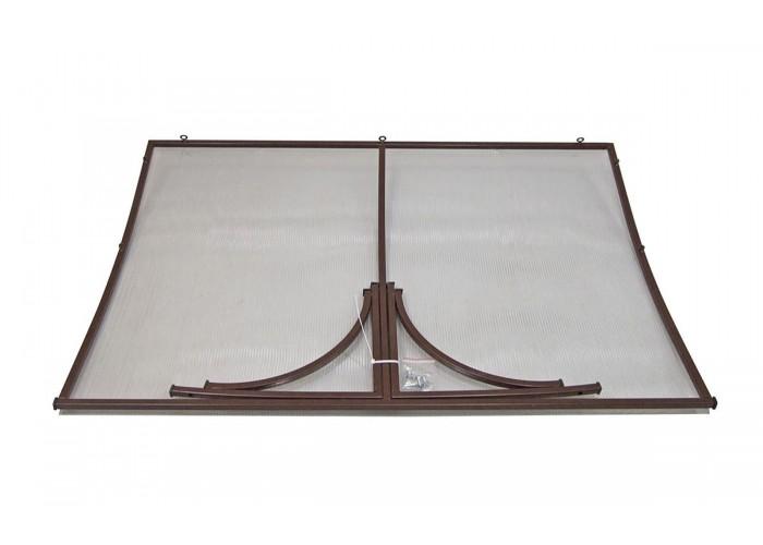 Козырёк из поликарбоната металлический S4025 118х78х30 см