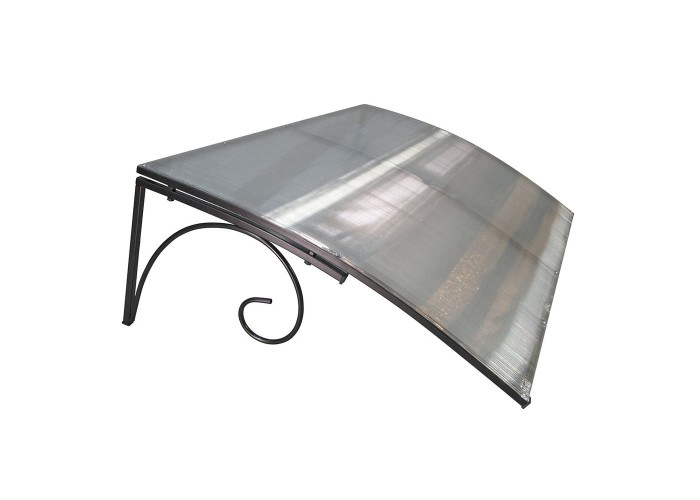 Козырёк из поликарбоната металлический S4026 118х78х30 см