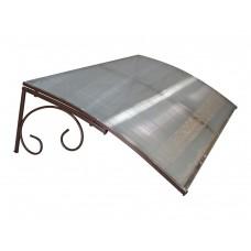 Козырёк из поликарбоната металлический S4001 118х78х30 см