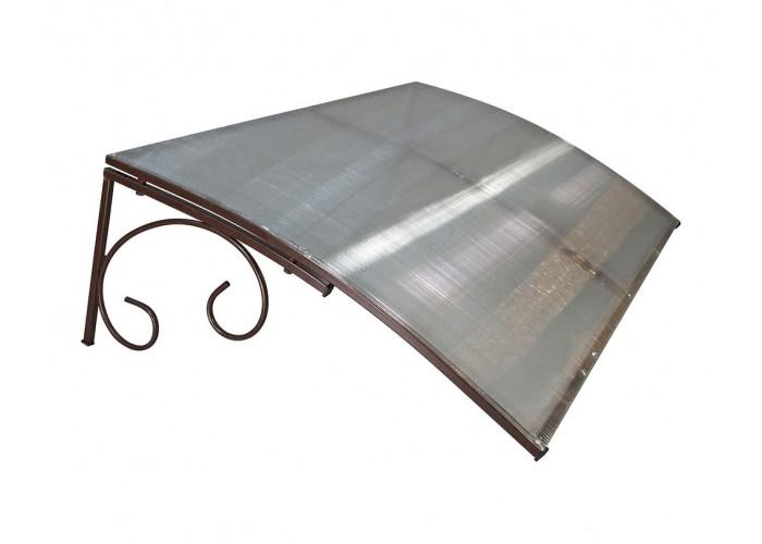 Козырёк из поликарбоната металлический S4001