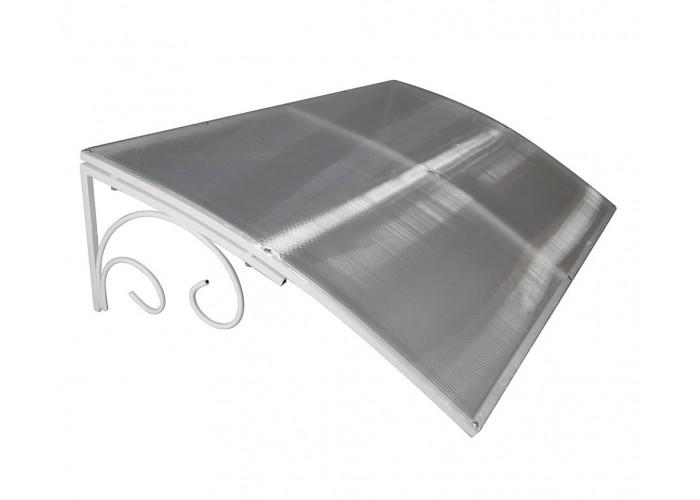 Козырёк из поликарбоната металлический S4002