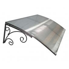 Козырёк из поликарбоната металлический S4003 118х78х30 см