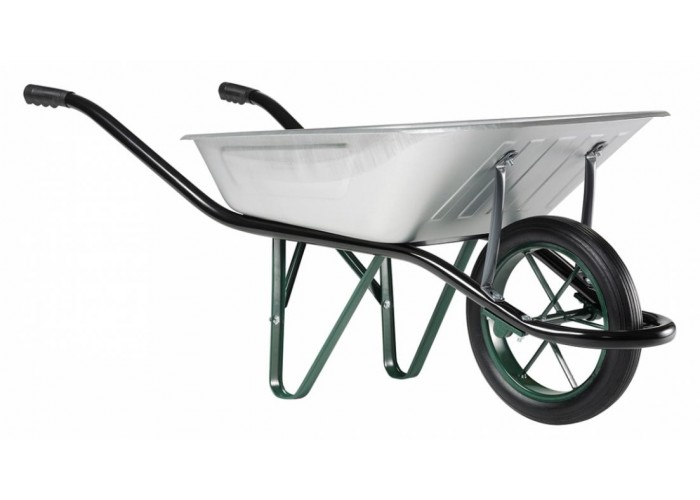 Тачка садовая Haemmerlin  CARGO MEDIUM Galva Gonflee 100 (литое колесо)