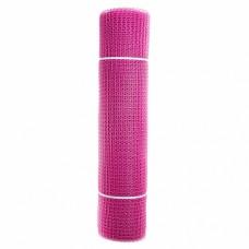 Сетка садовая пластиковая квадратная ПРОФИ 15x15мм, 1x20м, розовая