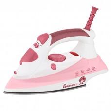 Утюг электрический 2000 Вт ВАСИЛИСА У5-2000 белый с темно-розовым