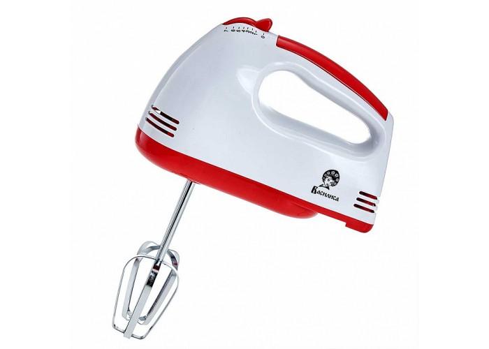 Миксер электрический 180 Вт ВАСИЛИСА МК2-180 белый с красным