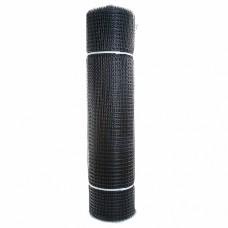Сетка садовая пластиковая квадратная ПРОФИ 15x15мм, 1x20м, черный