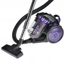 Пылесос DELTA LUX DL-0830 фиолетовый с черным