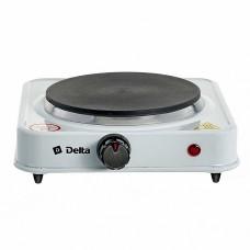 Плита электрическая 1000 Вт настольная 1-конфорочная DELTA D-704 белая