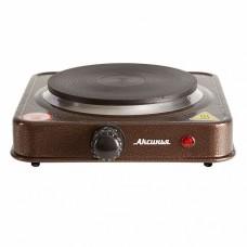 Плита электрическая 1000 Вт настольная 1-конфорочная АКСИНЬЯ КС-006 коричневая
