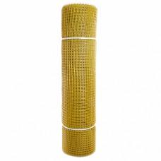Сетка садовая пластиковая квадратная ПРОФИ 15x15мм, 1x20м, желтая
