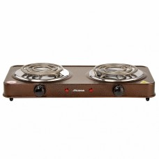 Плита электрическая 2000 Вт настольная 2-конфорочная АКСИНЬЯ КС-007 коричневая