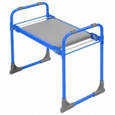 Скамейка садовая перевертыш с мягким сиденьем СКМ/Г голубая