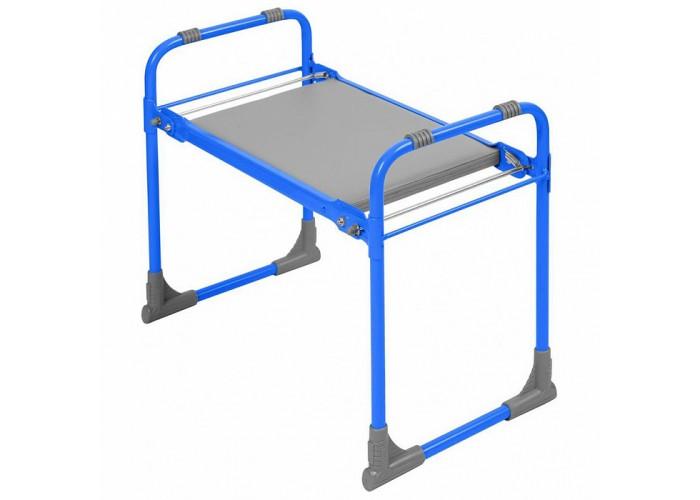Скамейка садовая складная с мягким сиденьем СКМ/Г голубая