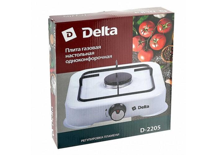Газовая плита настольная 1-конфорочная DELTA D-2205 белая