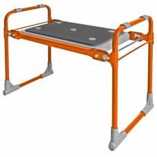 Скамейка садовая перевертыш с мягким сиденьем СКМ2/О оранжевая