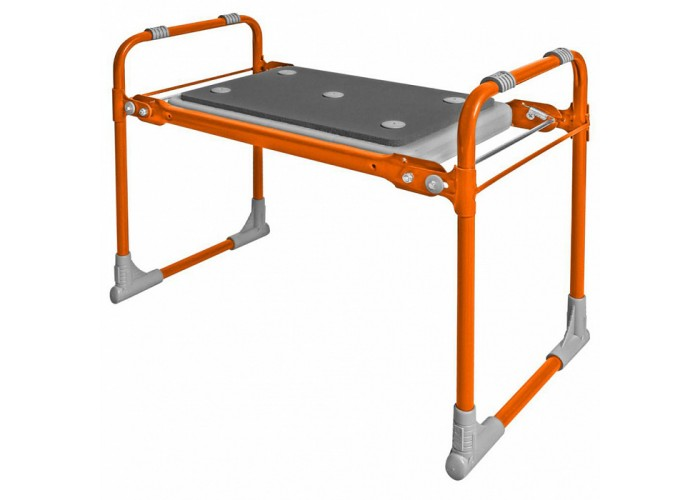 Скамейка садовая складная с мягким сиденьем СКМ2/О оранжевая