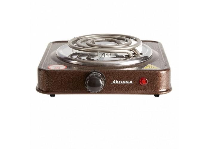 Плита электрическая 1000 Вт настольная 1-конфорочная АКСИНЬЯ КС-005 коричневая