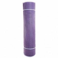 Сетка садовая пластиковая квадратная ПРОФИ 15x15мм, 1x20м, фиолетовая