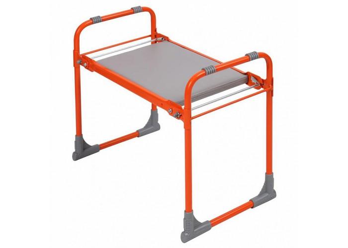 Скамейка садовая складная с мягким сиденьем СКМ/О оранжевая
