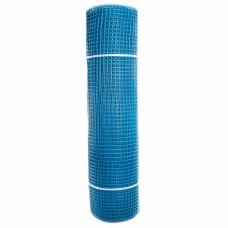 Сетка садовая пластиковая квадратная ПРОФИ 15x15мм, 1x20м, голубая