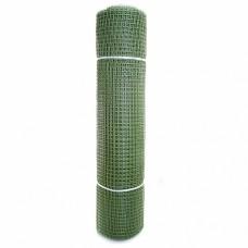 Сетка садовая пластиковая квадратная ПРОФИ 15x15мм, 1x20м, хаки