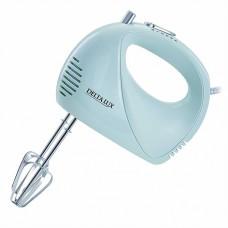 Миксер электрический 400 Вт DELTA LUX DL-5068 серо-голубой