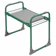 Скамейка садовая перевертыш с мягким сиденьем СКМ/З зеленая