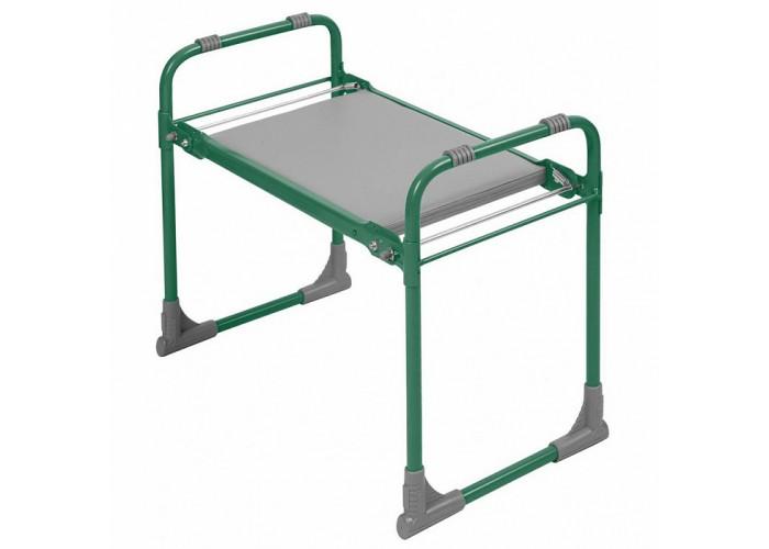 Скамейка садовая складная с мягким сиденьем СКМ/З зеленая
