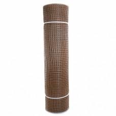 Сетка садовая пластиковая квадратная ПРОФИ 15x15мм, 1x20м, коричневая