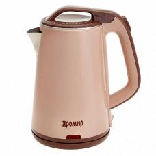 Чайник электрический 1500 Вт, 1,8 л ЯРОМИР ЯР-1060, двухслойный корпус, поддержание температуры, бежевый