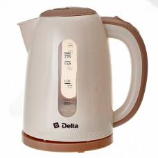 Чайник электрический 2200 Вт, 1,7 л DELTA DL-1106 бежевый