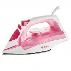 Утюг электрический 2200 Вт DELTA DL-755 белый с розовым