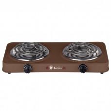 Плита электрическая 2000 Вт настольная 2-конфорочная ВАСИЛИСА ВА-902 коричневая