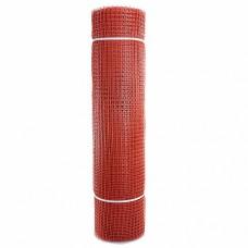 Сетка садовая пластиковая квадратная ПРОФИ 15x15мм, 1x20м, красная
