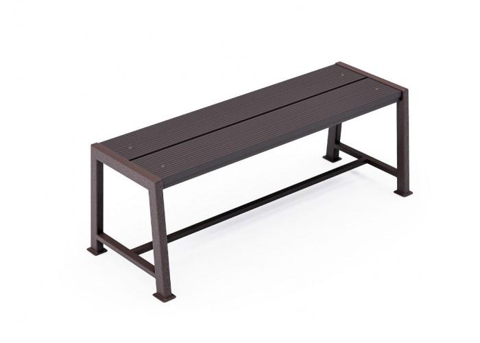 Металлическая скамейка ДПК-2