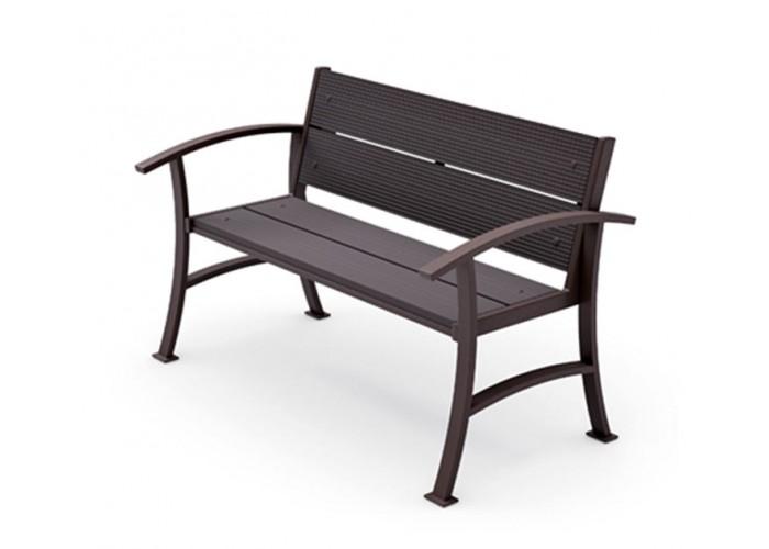 Металлическая скамейка ДПК-3