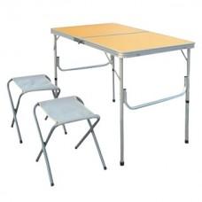 Набор: стол складной, регулируемый по высоте, с 2-мя складными стульями НТО9-0056/3