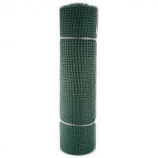 Сетка садовая пластиковая квадратная ПРОФИ 15x15мм, 1x20м, зеленая