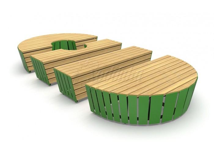 Модульная скамейка «Экополис Комби-1»