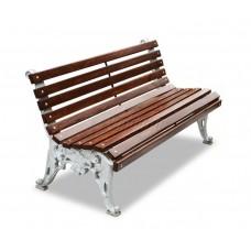 Скамейка алюминиевая «Белые ночи» без подлокотников