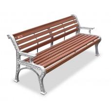 Скамейка алюминиевая «Ретро стиль» с подогревом