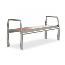 Скамейка без спинки алюминиевая «Бридж»