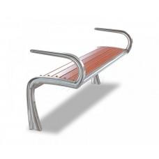 Скамейка алюминиевая без спинки с подлокотниками «Сидней»
