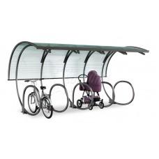 Парковка для колясок и велосипедов с навесом 03