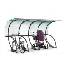 Парковка для колясок и велосипедов с навесом 01