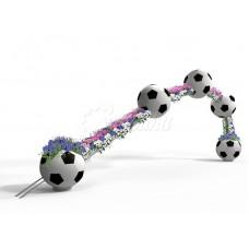 Цветочница «Полёт футбольного мяча»