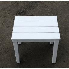 """Столик для шезлонга """"Прованс"""" белый."""