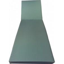"""Матрас для шезлонга """"Комфорт"""". Толстый со съемным чехлом. Толщина 6 см. Влагозащитный. Цвет т. зеленый."""
