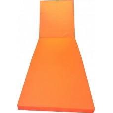 """Матрас для шезлонга """"Комфорт"""". Толстый со съемным чехлом. Толщина 6 см. Влагозащитный.Цвет Оранжевый."""